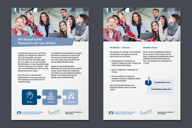schareinprojekt-grafik-design-gestaltung-event-information-flyer-finanzen-moneycoaster-schüler